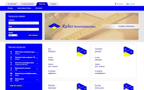 Screenshot of Team Page rubes.nl captured Oct. 9, 2014