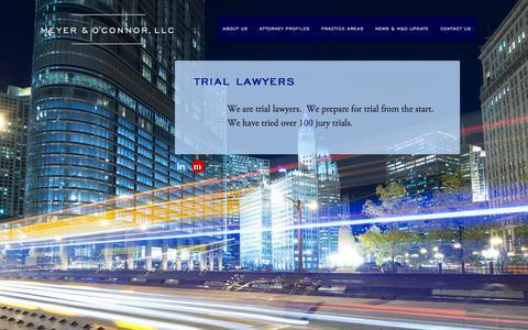 Screenshot of Home Page meyeroconnor.com - Meyer & O'Connor, LLC - captured Oct. 6, 2014