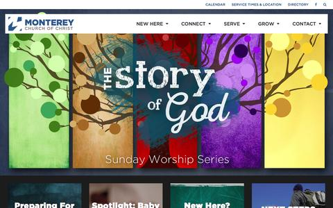 Screenshot of Home Page montereychurch.com captured Feb. 16, 2016