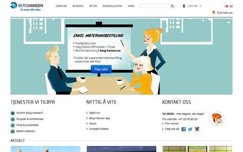 Screenshot of Home Page berg-hansen.no - Berg-Hansen - Start - captured Oct. 2, 2014