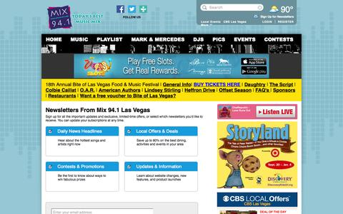 Screenshot of Signup Page cbslocal.com - Mix 94.1 Las Vegas - captured Sept. 19, 2014