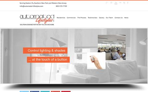 Screenshot of Home Page automated-lifestyles.com - Automated Lifestyles LLC Automated Lifestyles - Home Automation - captured Feb. 6, 2016
