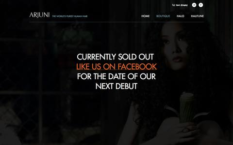 Screenshot of Products Page arjuni.com - Arjuni Boutique - captured Sept. 30, 2014