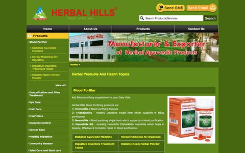 Screenshot of Products Page herbalhills.net - Herbal Products And Health Topics | Manufacturer from Mumbai - captured Oct. 15, 2017