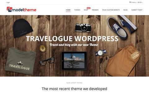 Screenshot of Home Page modeltheme.com - Model Theme | Premium Wordpress Themes - captured Jan. 23, 2015