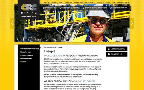 Screenshot of Team Page crcmining.com.au - People | CRC Mining | CRC Mining - captured Sept. 26, 2014