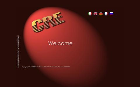 Screenshot of Home Page creverzeni.it - CRE di Verzeni s.r.l - captured Oct. 1, 2014