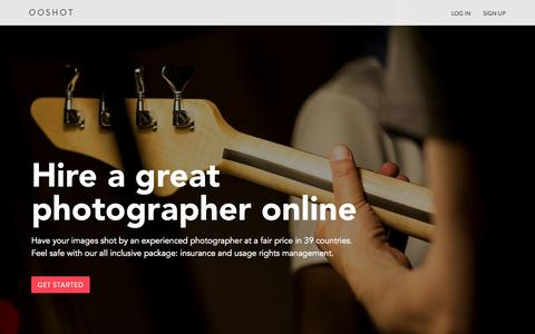 Screenshot of Home Page ooshot.com - Event, Architectural and Product Photographer - Ooshot.com - captured Aug. 11, 2015