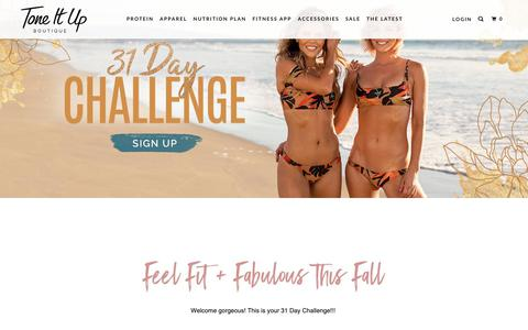 Screenshot of Signup Page toneitup.com - Fall Fitness Challenge 2018 - Tone It Up - captured Oct. 1, 2018