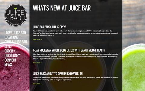 Screenshot of Press Page ilovejuicebar.com - News | I Love Juice Bar! - captured Nov. 3, 2014