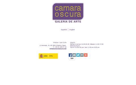 Screenshot of Home Page camaraoscura.net - CAMARA OSCURA - GALERIA DE ARTE - captured Oct. 3, 2014