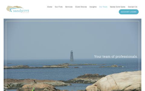 Screenshot of Team Page sandycoveadvisors.com - Sandy Cove Advisors - captured Oct. 4, 2017