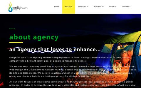 Screenshot of About Page enlightenweb.com - Best branding, website, graphic design agency in Pune, India - captured March 5, 2016