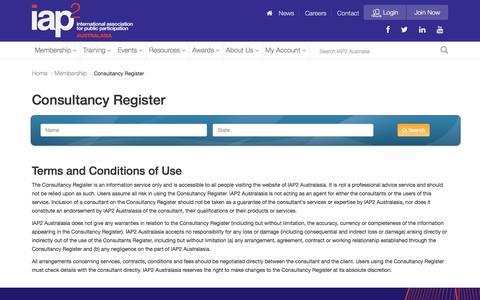 ✖ Consultancy Register