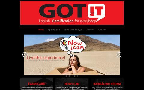 Screenshot of Home Page gotit.com.br - Home - captured Dec. 20, 2018
