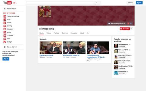 Screenshot of YouTube Page youtube.com - stofwisseling  - YouTube - captured Nov. 4, 2014