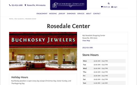 Screenshot of Maps & Directions Page buchkosky.com - Rosedale Center - Jewelry Store - Buchkosky Jewelers - captured Dec. 19, 2018