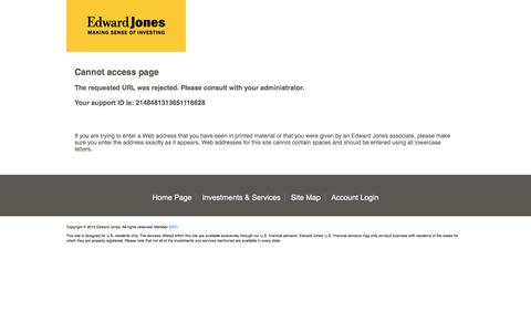 Edward Jones | Cannot access page