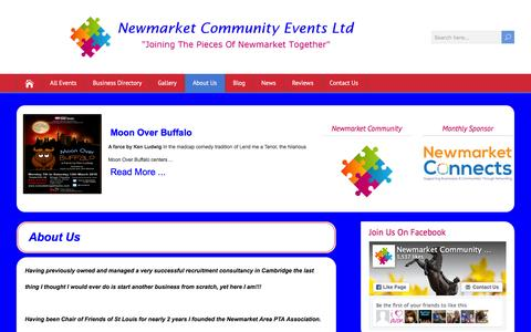 Screenshot of About Page newmarketcommunity.co.uk - About Us - Newmarket Community Events Ltd - captured Feb. 24, 2016