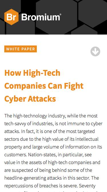 Bromium: White Paper - How High-Tech Companies Can Fight Cyber Attacks