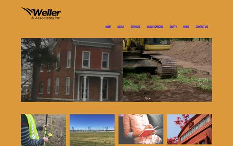 Screenshot of Home Page wellercrm.com - Weller & Associates Inc. ⋆ Archaeology - captured Dec. 21, 2016