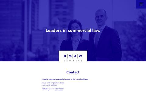 Screenshot of Contact Page dmawlawyers.com.au - Contact - DMAW Lawyers - captured June 3, 2017