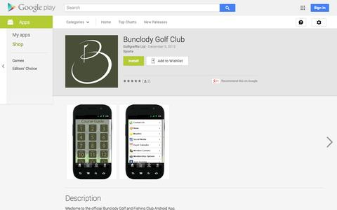 Screenshot of Android App Page google.com - Bunclody Golf Club - Android Apps on Google Play - captured Oct. 23, 2014