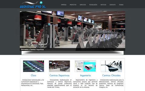 Screenshot of Home Page audiosatpro.es - Audiosat Pro, S.L. - captured Oct. 4, 2014