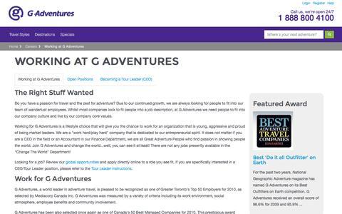 Careers  - G Adventures