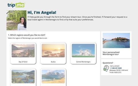 Screenshot of Landing Page trip.me - Request: Montenegro Tour | trip.me - captured Aug. 18, 2016