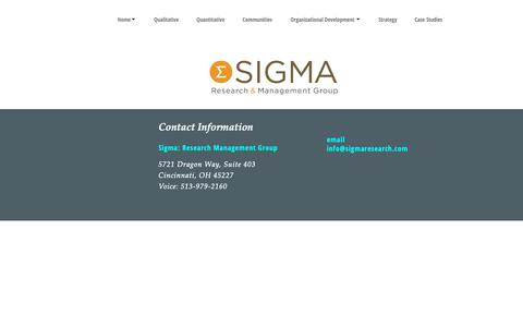 Screenshot of Contact Page sigmaresearch.com - Contact   Sigma Research - captured Dec. 21, 2018