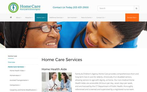 Screenshot of Services Page familyandchildrensagency.org - Senior Home Care Services | Family & Children's Agency - captured Oct. 13, 2017