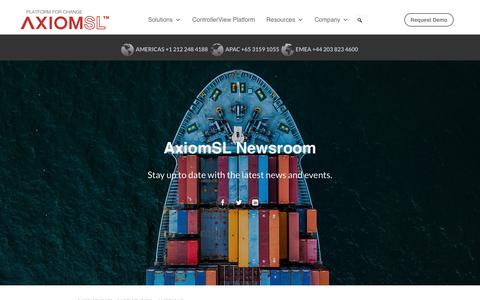 Screenshot of Case Studies Page axiomsl.com - Case Studies Archives - AxiomSL - captured May 13, 2018