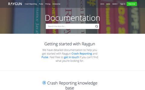 Screenshot of raygun.io - How To Set Up Raygun - Error Reporting Software | Raygun - captured March 20, 2016