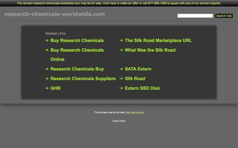 Screenshot of Home Page research-chemicals-worldwide.com - Research-Chemicals-Worldwide.com - captured Jan. 11, 2016