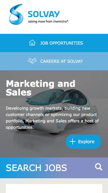 Screenshot of Jobs Page  solvay.com - Marketing and Sales Jobs in India at Solvay   Careers at Solvay