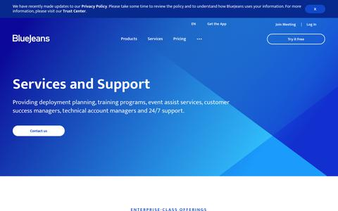 Services and Support | BlueJeans