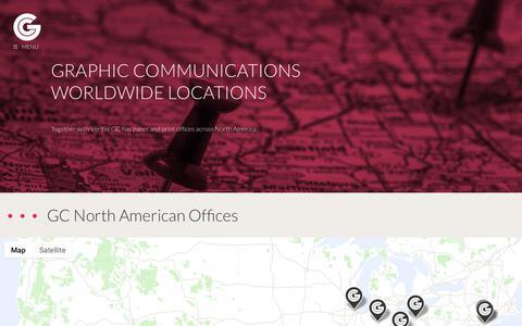 Screenshot of Locations Page graphiccommunications.com - Locations | Offices | Graphic Communications - captured Nov. 5, 2018