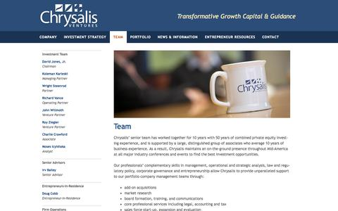 Screenshot of Team Page chrysalisventures.com - Team - Chrysalis Ventures - captured Sept. 29, 2014