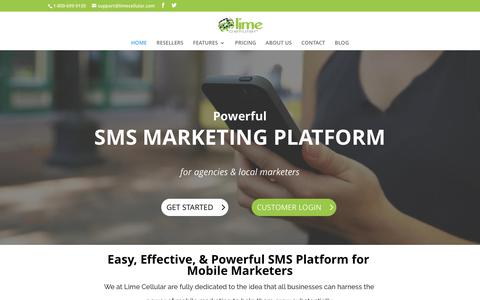 Lime Cellular | SMS Marketing Platform