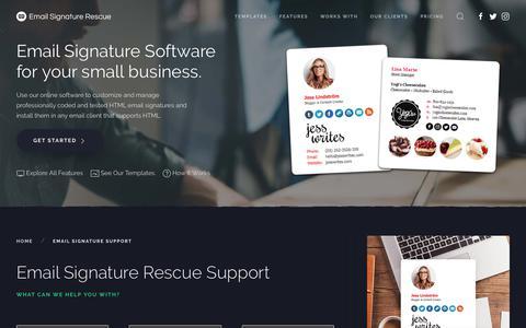 Email Signature Rescue Support