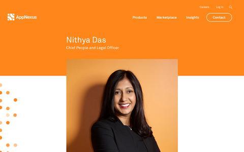 Screenshot of Team Page appnexus.com - Nithya Das | AppNexus - captured June 22, 2018