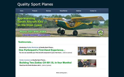 Screenshot of Testimonials Page weebly.com - Testimonials - Quality Sport Planes - captured Oct. 29, 2018