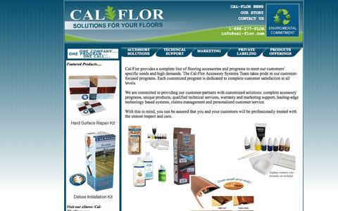 Screenshot of Home Page cal-flor.com - Cal-Flor Accessory Systems - captured Oct. 1, 2014