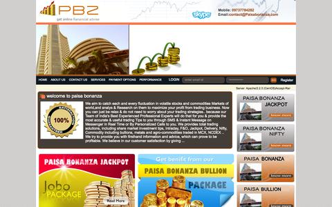 Screenshot of Home Page paisabonanza.com - Paisabonanza : Online Fianancial Information. - captured Jan. 30, 2015