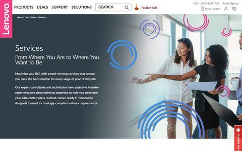 Screenshot of Services Page lenovo.com - Enterprise Services | Lenovo India - captured Oct. 19, 2018