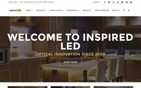 Screenshot of Home Page inspiredled.com - Inspired LED - captured Sept. 7, 2015