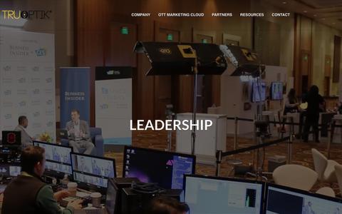 Screenshot of Team Page truoptik.com - Leadership | Tru Optik - Over-the-top, Connected TV, Data Management Platform - captured Nov. 17, 2018