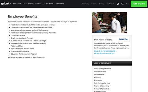 Splunk Employee Benefits