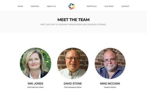 Screenshot of Team Page nikijones.com - Meet The Team | Niki Jones Agency - captured Oct. 18, 2018
